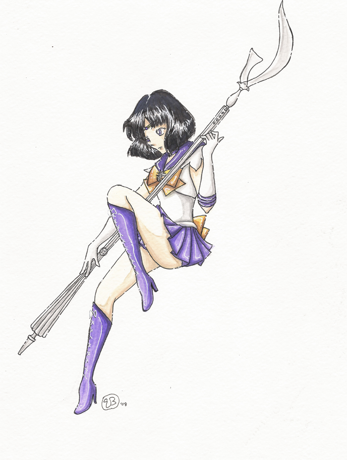 700x927 Sailor Saturn Watercolor By Triaelf9