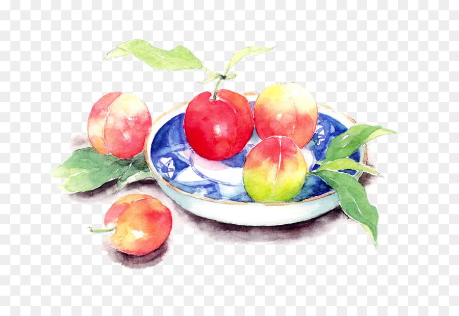 900x620 Saturn Peach Still Life Watercolor Painting Art
