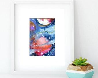 340x270 Saturn Watercolor Etsy