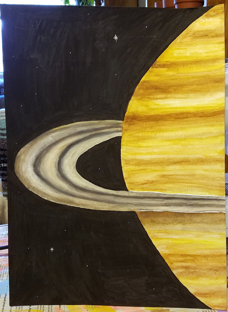 748x1024 Saturn Watercolor I Deviated From My Usual Work To Try