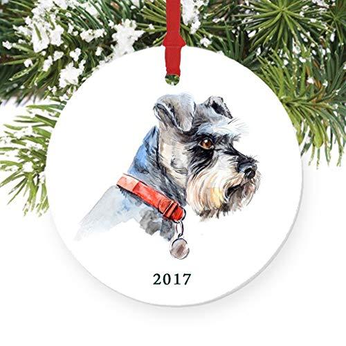 500x500 Schnauzer Christmas Ornament 2017, Porcelain Ceramic