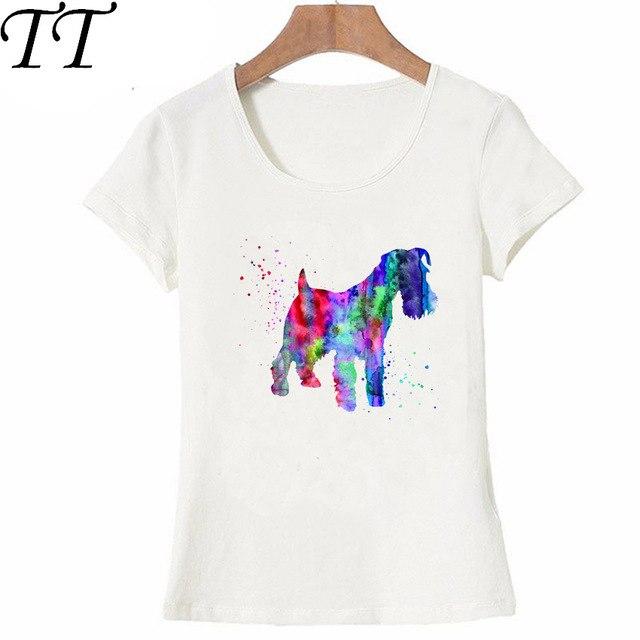 640x640 I Love My Miniature Schnauzer Watercolor Art Painting T Shirt