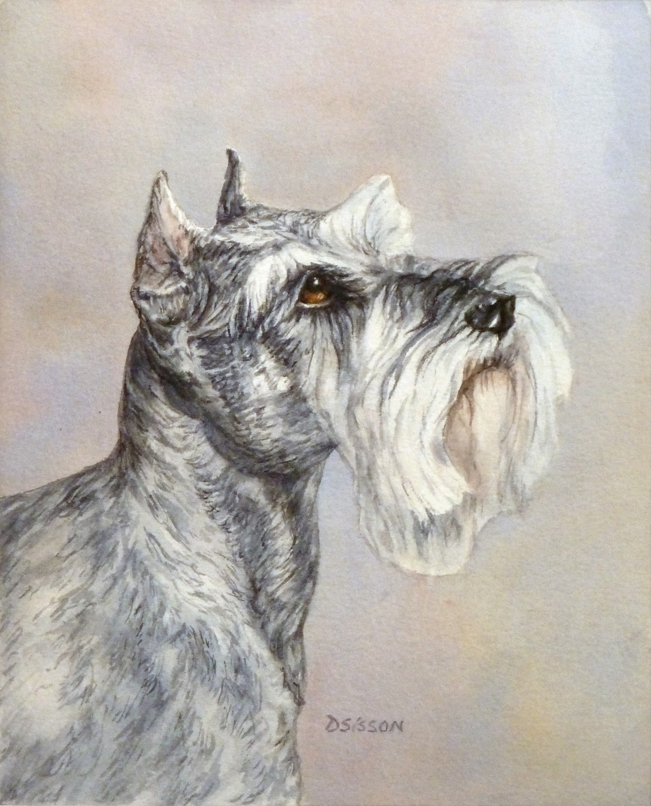 1292x1600 Daily Painting Projects Mini Schnauzer Oil Painting Pet Portrait