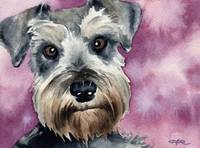 200x148 Stunning Miniature Schnauzer Watercolor Painting Reproductions