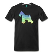 190x190 Dog Water Color Miniature Schnauzer Watercolor Painting Shirt By
