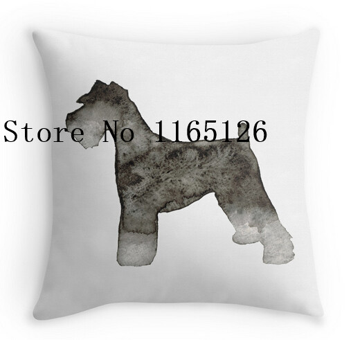 507x491 Hot Pillow Cases Cool Miniature Schnauzer Watercolor Two Sides