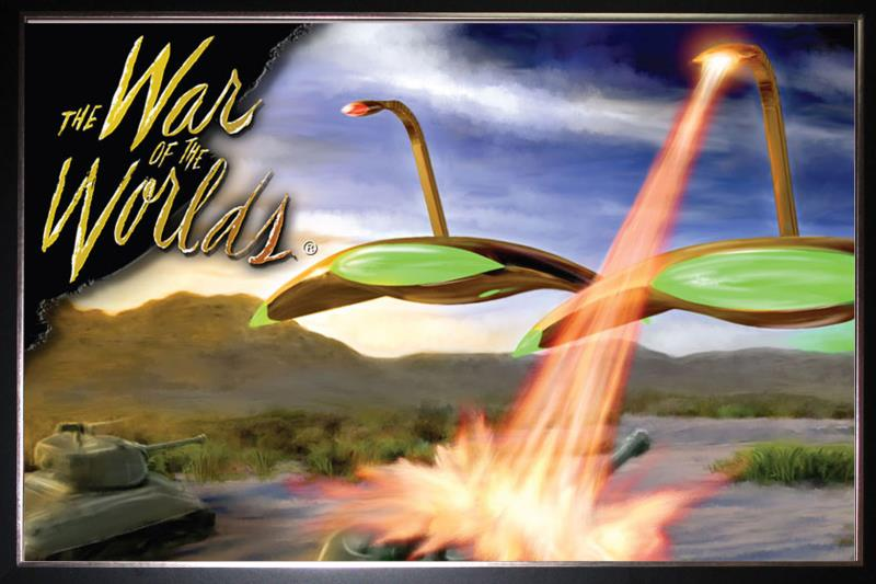 800x533 Silk Poster Of War Of The Worlds Sci Fi Movie Watercolor Painting Art