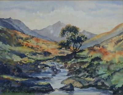 400x310 Glen Rosa Isle Of Arran Scotland Framed Watercolor Painting By