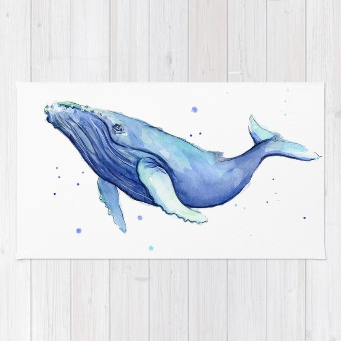 700x700 Nursery Art Print Humpback Whale Watercolor Painting Sea Creatures