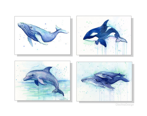 500x396 Nursery Wall Art Decor Sea Creatures Nursery Art Prints Animal