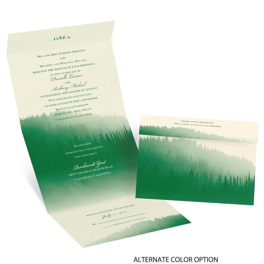 1000x1000 Watercolor Forest Seal And Send Invitation Invitations By Dawn