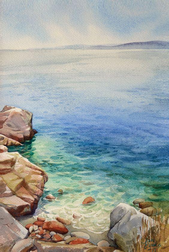 564x837 Simply Sensational Seaside Watercolor Paintings Paintings