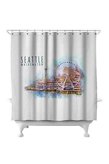 Seattle Skyline Watercolor
