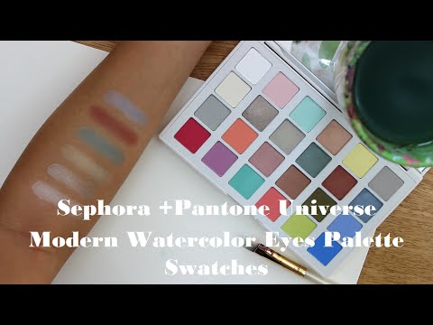 480x360 Sephora + Pantone Modern Watercolor Palette Swatches