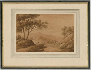 300x233 English School 1803 Sepia Watercolour