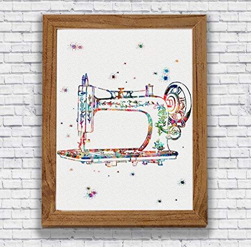 508x500 Sewing Machine Watercolor Art Print Craft Room Decor
