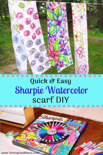 333x500 Diy Sharpie Tie Dye Scarf Tutorial An Inspired Mess