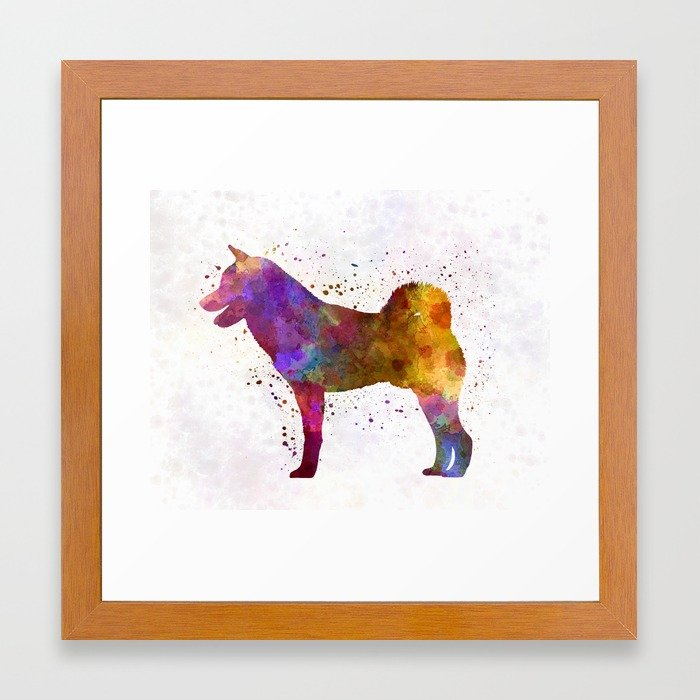 700x700 Shiba Inu In Watercolor Framed Art Print By Paulrommer Society6
