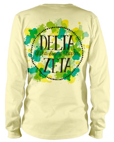 395x489 1314 Delta Zeta Watercolor T Shirt