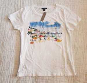 300x287 New Womens Marcel George For J Crew Beach Watercolor T Shirt