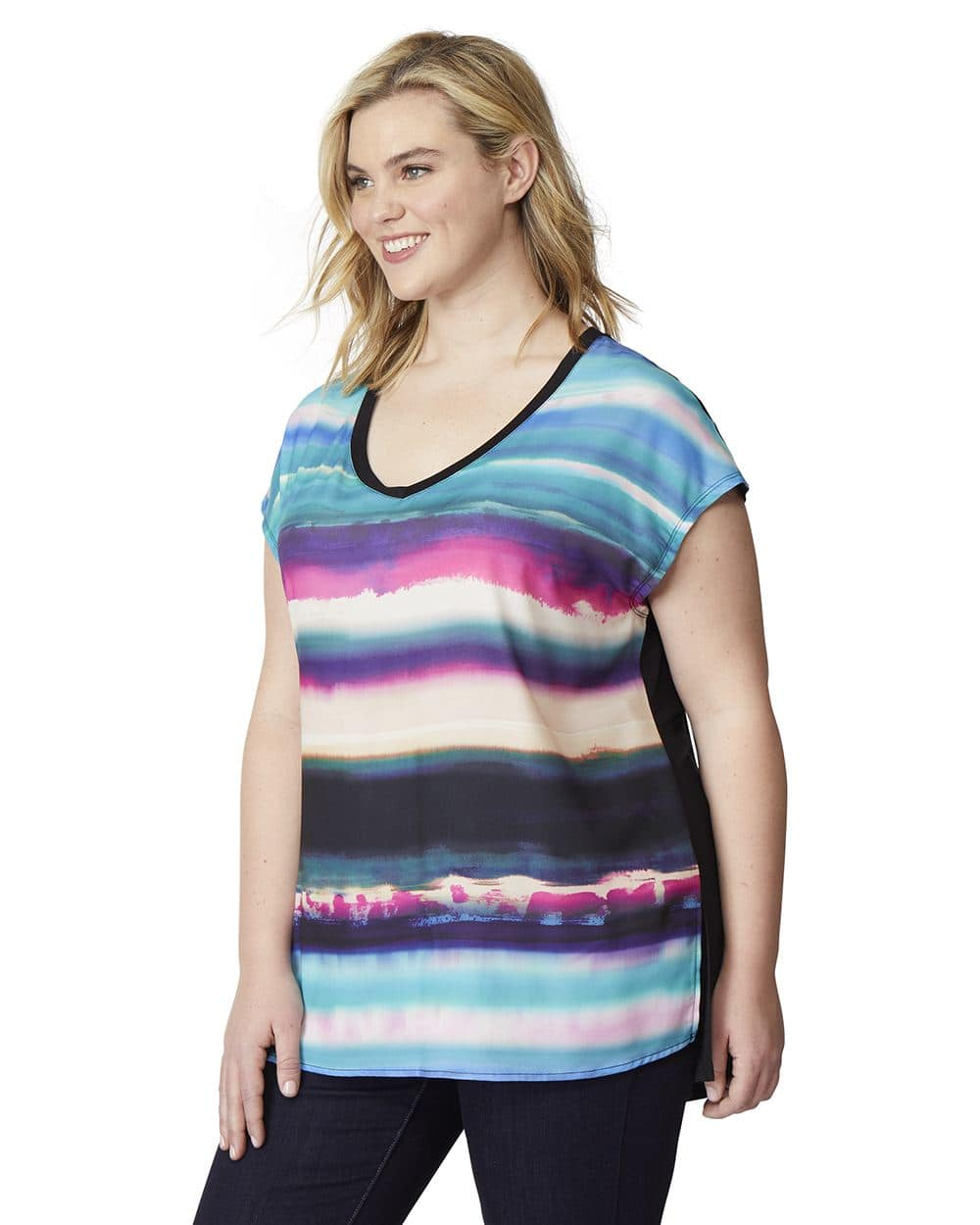 1000x1250 Rebel Wilson Mixed Fabric Watercolor Sublimation T Shirt