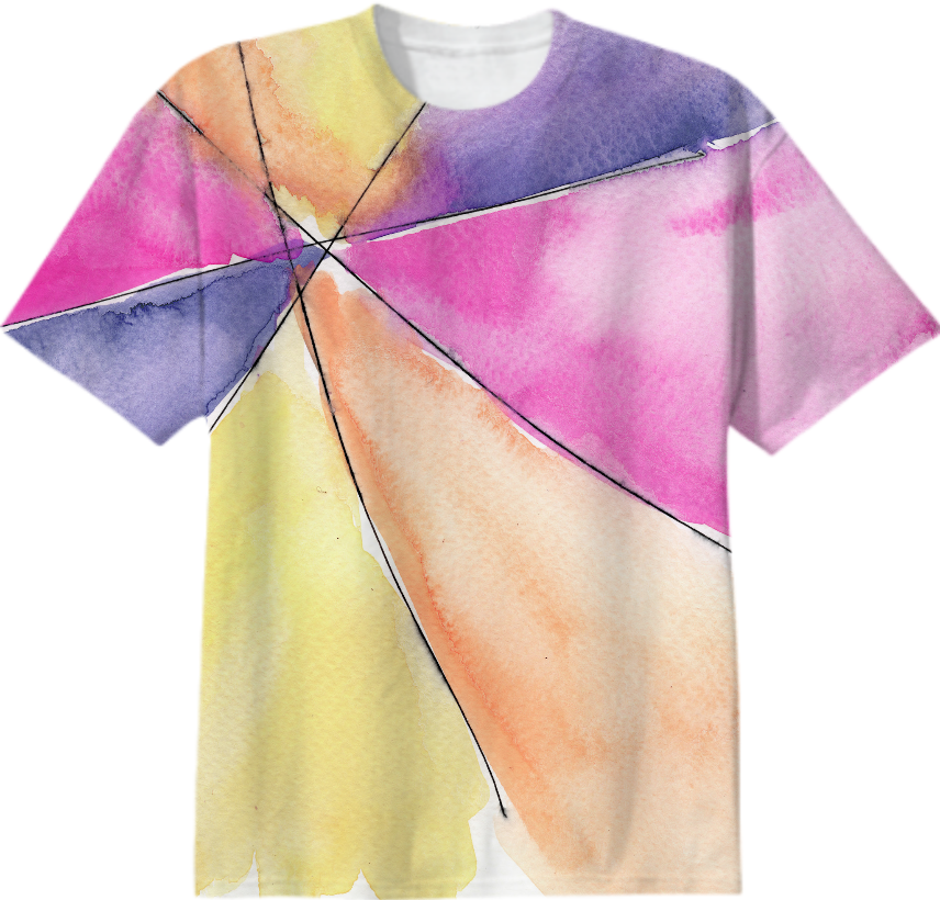 856x820 Shop Dos Designs Watercolor Tee Shirt Cotton T Shirt By Dos