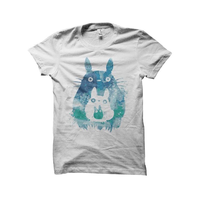 800x800 Totoro Watercolor T Shirt