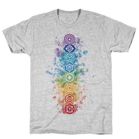 484x484 Watercolor Chakra Symbols T Shirt Activate Apparel