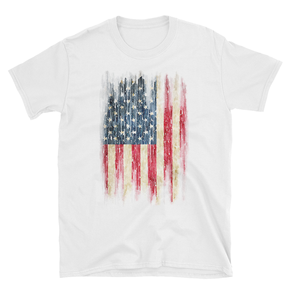 1000x1000 Watercolor Flag T Shirt