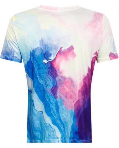 400x500 Cartoon Watercolor Unicorn T Shirt For Women Short Sleeve Tee