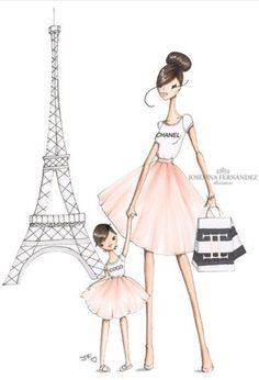 236x346 French Shopping. Watercolor Fashion Clipart, Shoes, Fashion, Dog