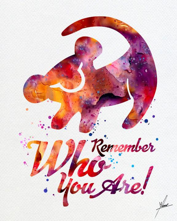 576x720 The Lion King Simba Quote Watercolor Art Print Wall Art Home Decor