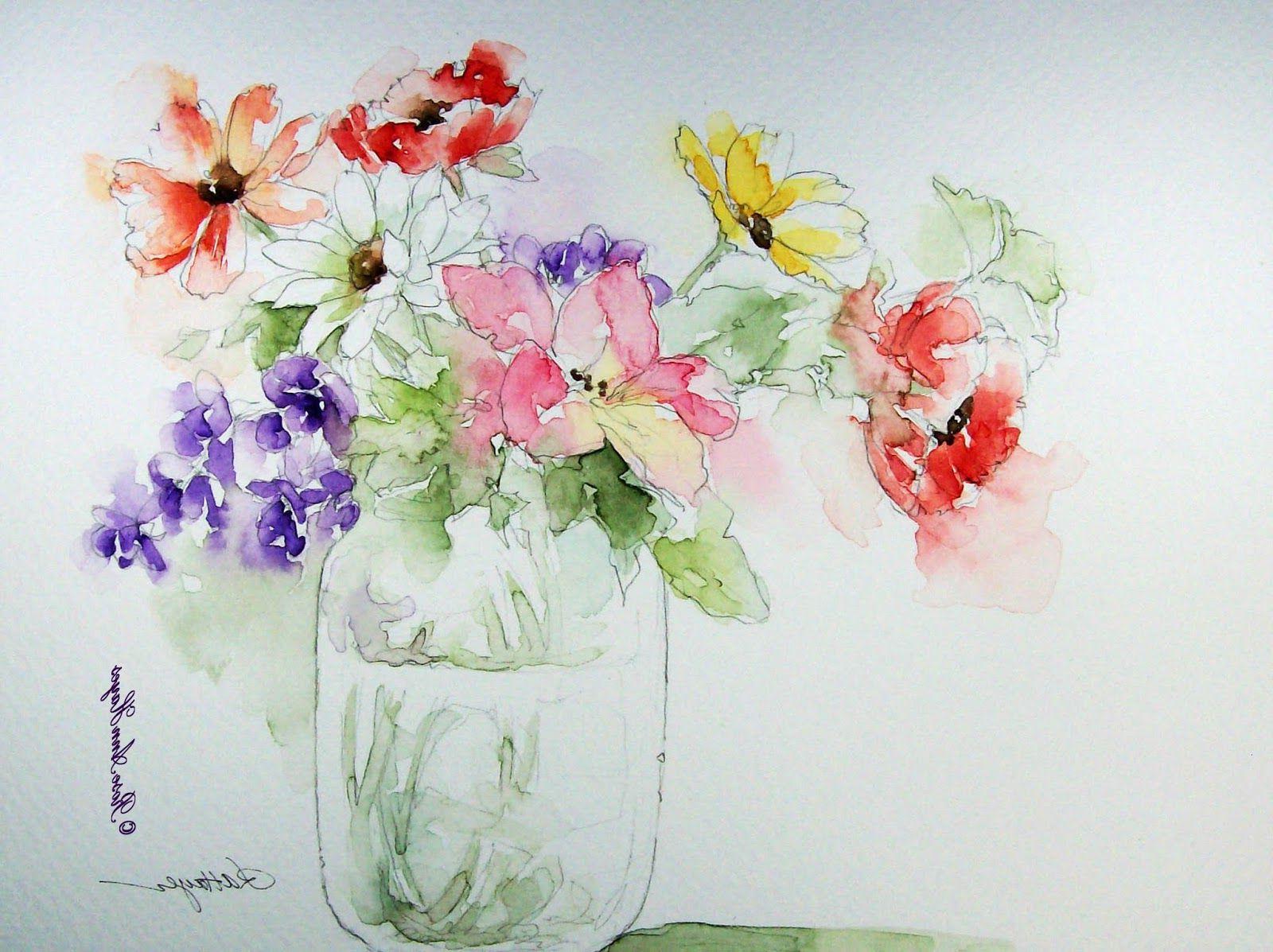 1600x1197 Simple Flower Watercolor Paintings Simple Watercolor Flower