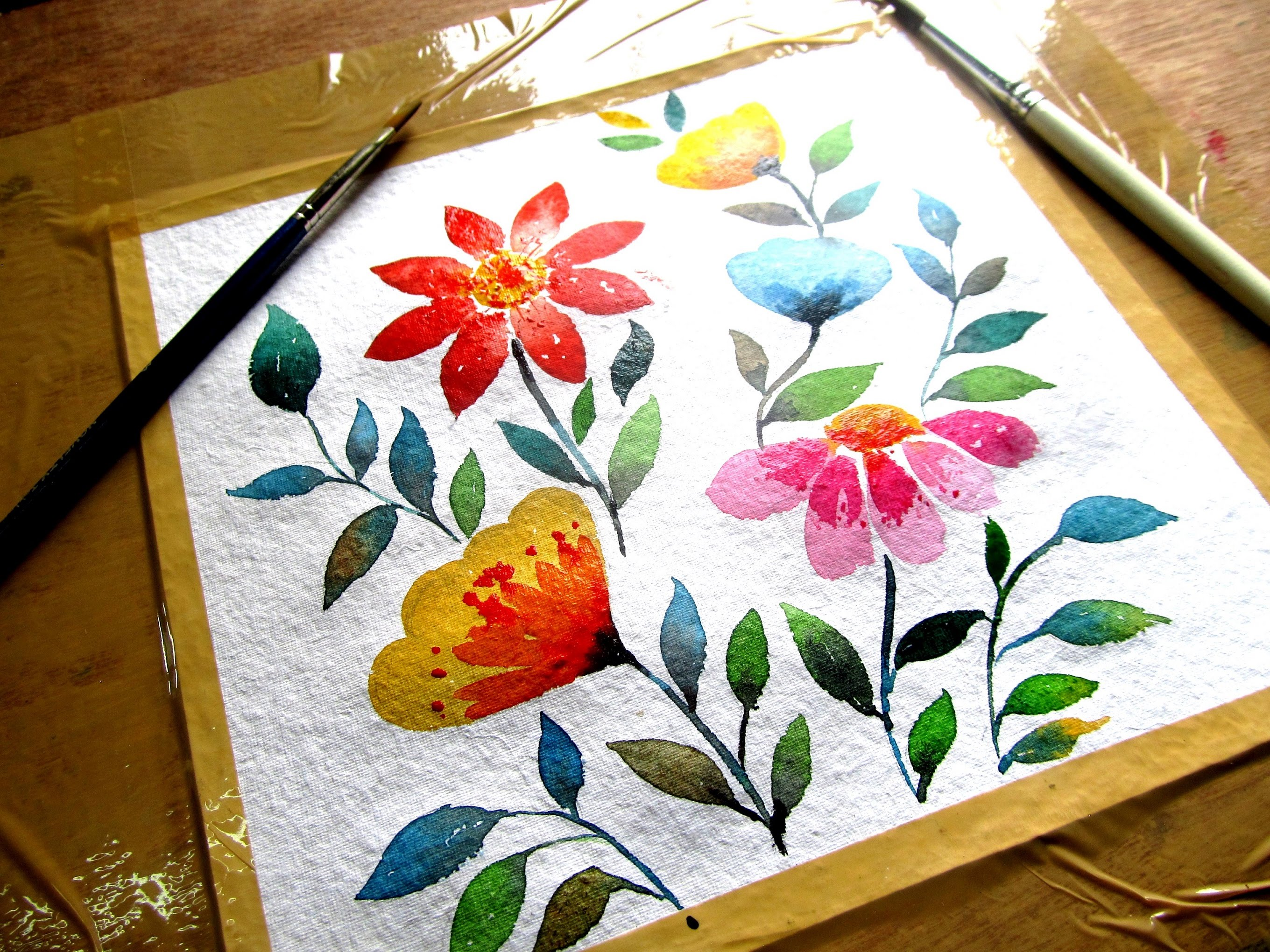 2720x2040 Simple Flower Painting With Watercolor, Watercolor Painting For
