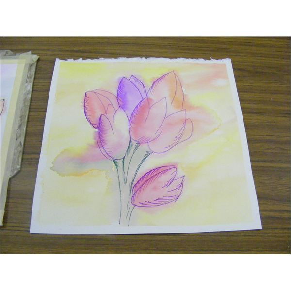 600x600 Easy Watercolor Art Project For Fall Or Spring Leaves Or Flowers
