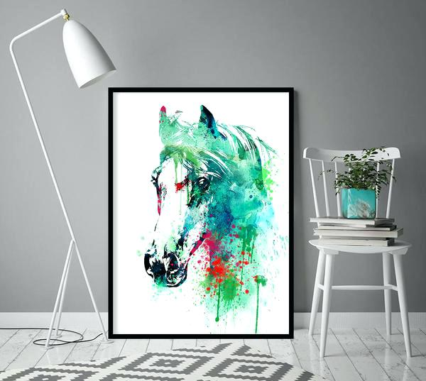 600x537 Wall Art Horse Pictures Watercolor Horse Art Horse Wall Art Wall