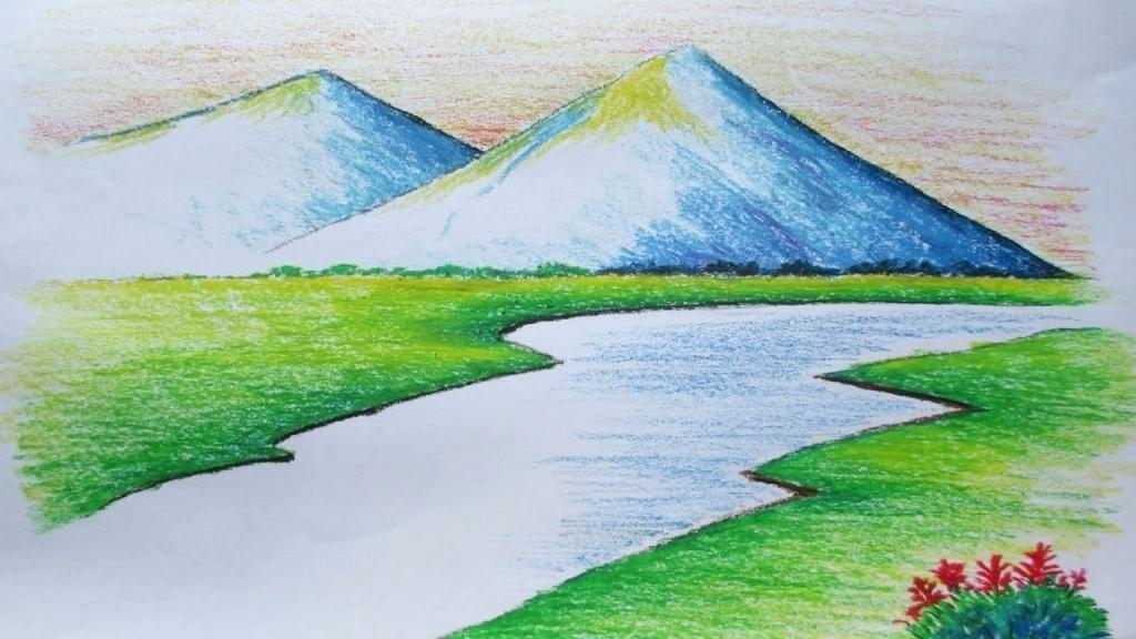 Simple Landscape Watercolor