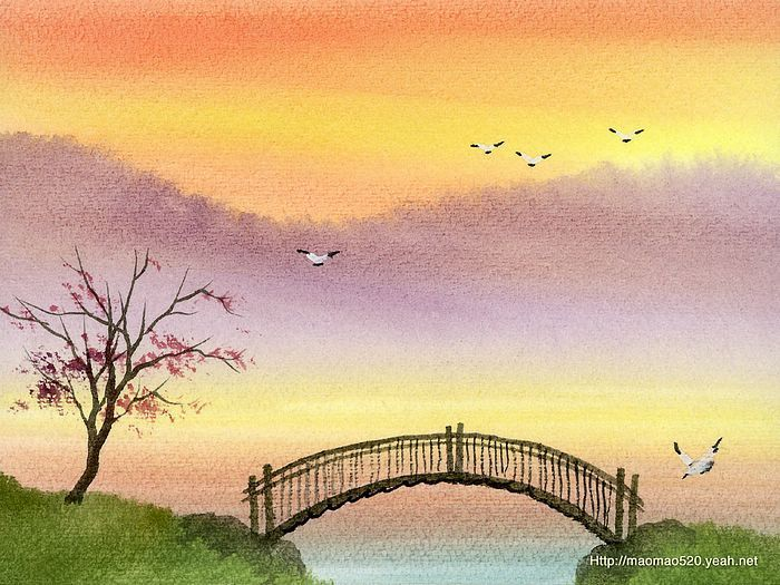 700x525 Pictures Simple Landscape Paintings Watercolor,