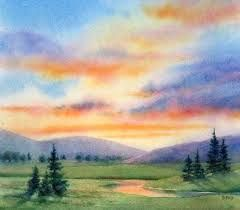 240x210 Simple Landscape Paintings Simple Watercolor Landscape Painting