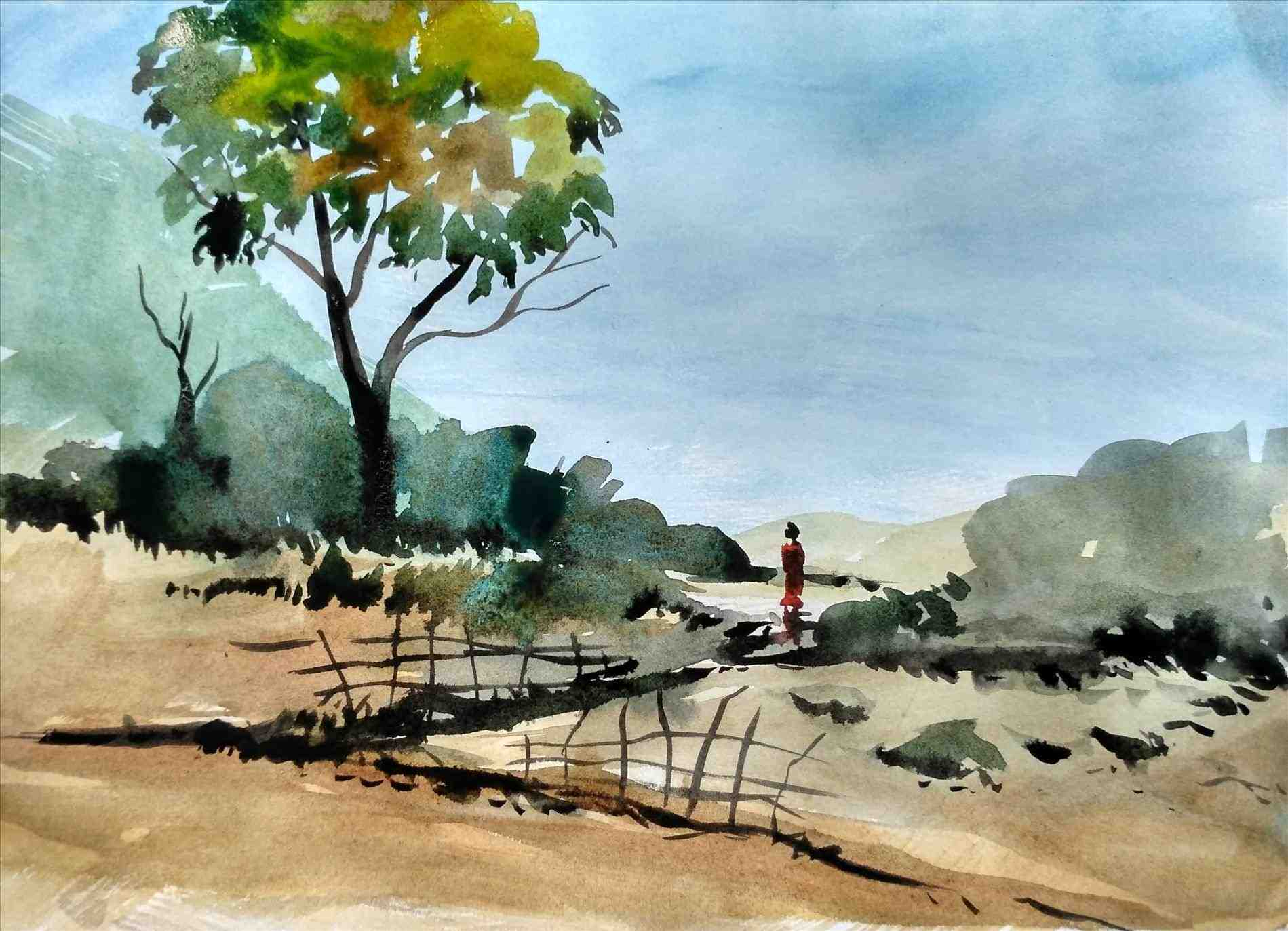 1899x1373 Simple Landscape Watercolor Simple Landscape Watercolor Paintings
