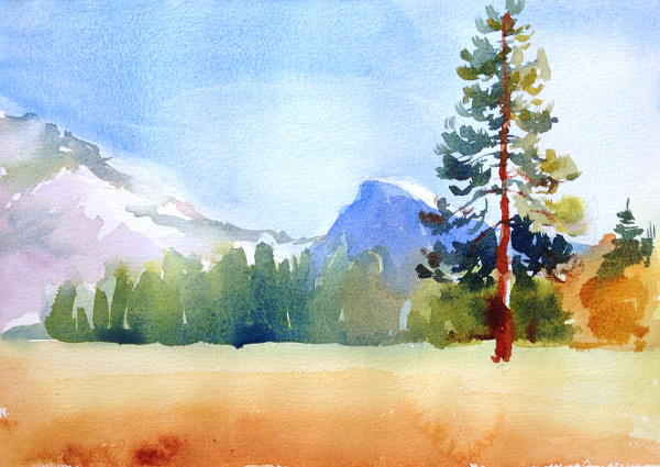 600x425 Watercolor Landscape Painting 5 Step Tutorial