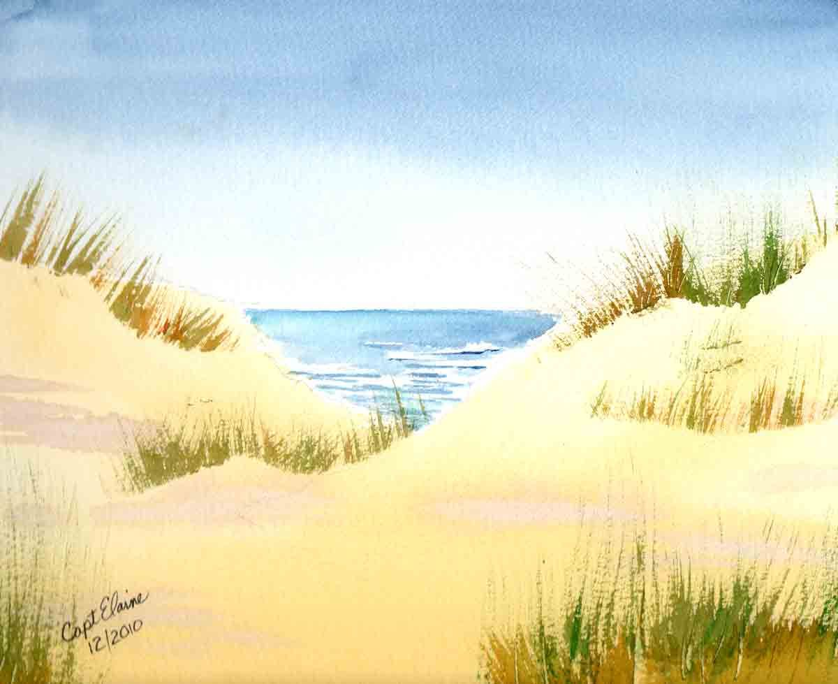 1200x979 Watercolor Seascape Paintings Simple Landscape Watercolor