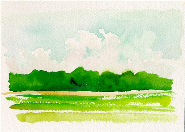 600x428 Landscape Watercolor Sketch Chris Carter Artist 07211001 Third