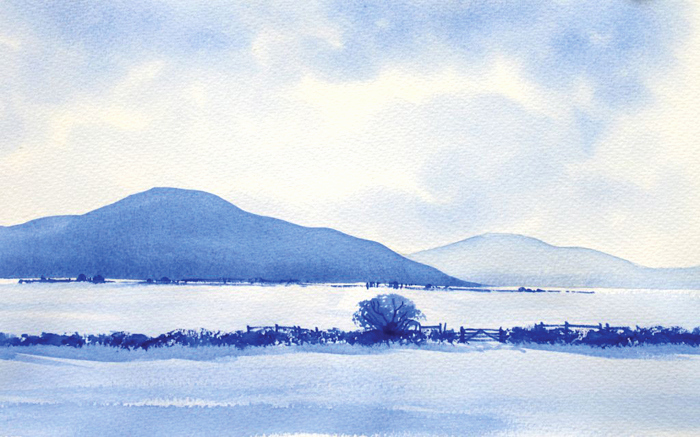 700x437 How To Paint A Simple Watercolor Landscape Fresh Simple Landscape