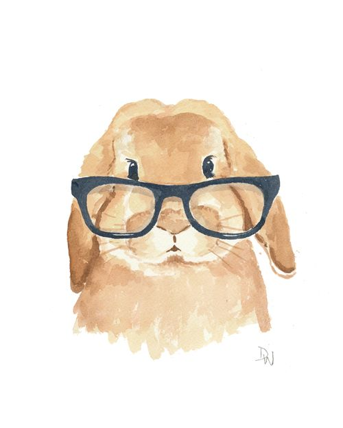 500x625 Hello Sir Animals Watercolor, Rabbit And Bunny