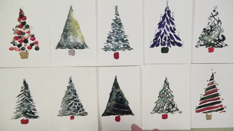 Simple Watercolor Christmas Cards