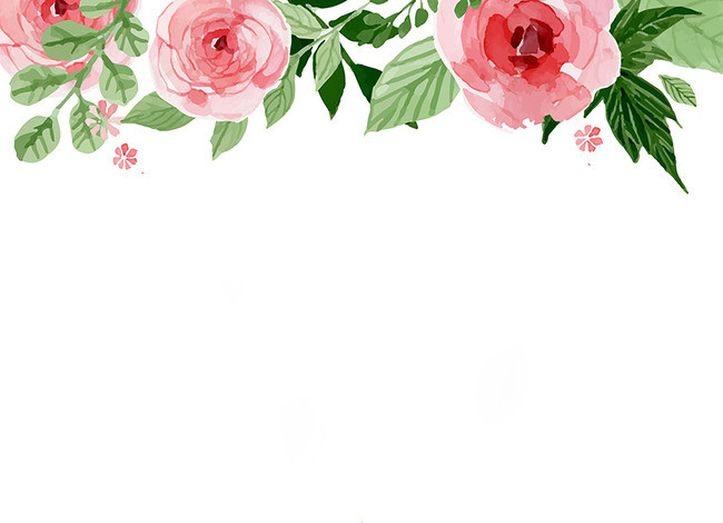 650x470 Watercolor Floral Flower Frame Background, Simple, Watercolor