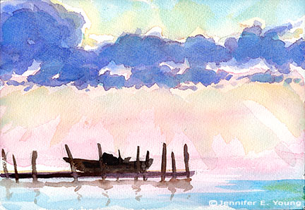Simple Watercolor Landscape