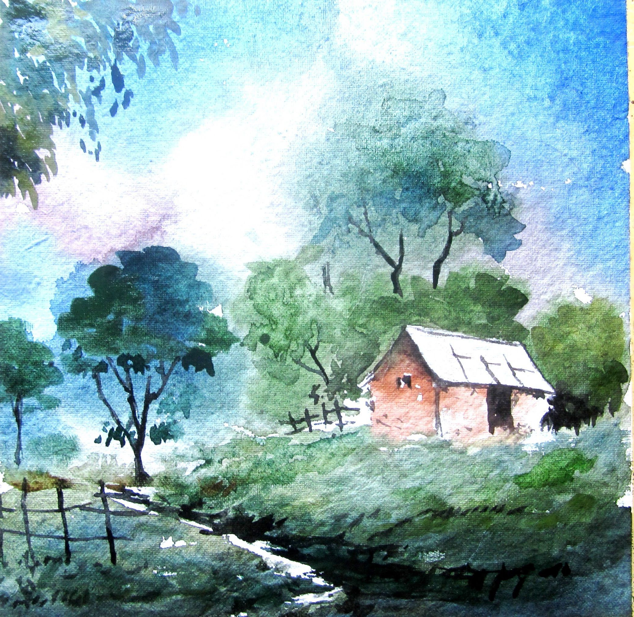 2087x2029 Simple Watercolor Landscape Paintings How To Paint Landscape