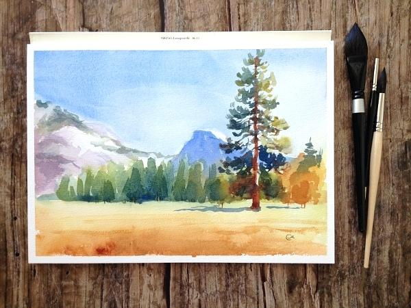 600x450 Step By Step Landscape Painting For Beginners Watercolor Landscape